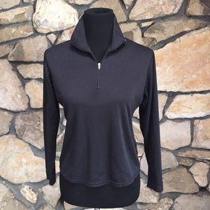 Patagonia Black 1/4 zip Capilene Pullover Shirt